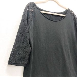 Gap XL black 3/4 sleeve tee